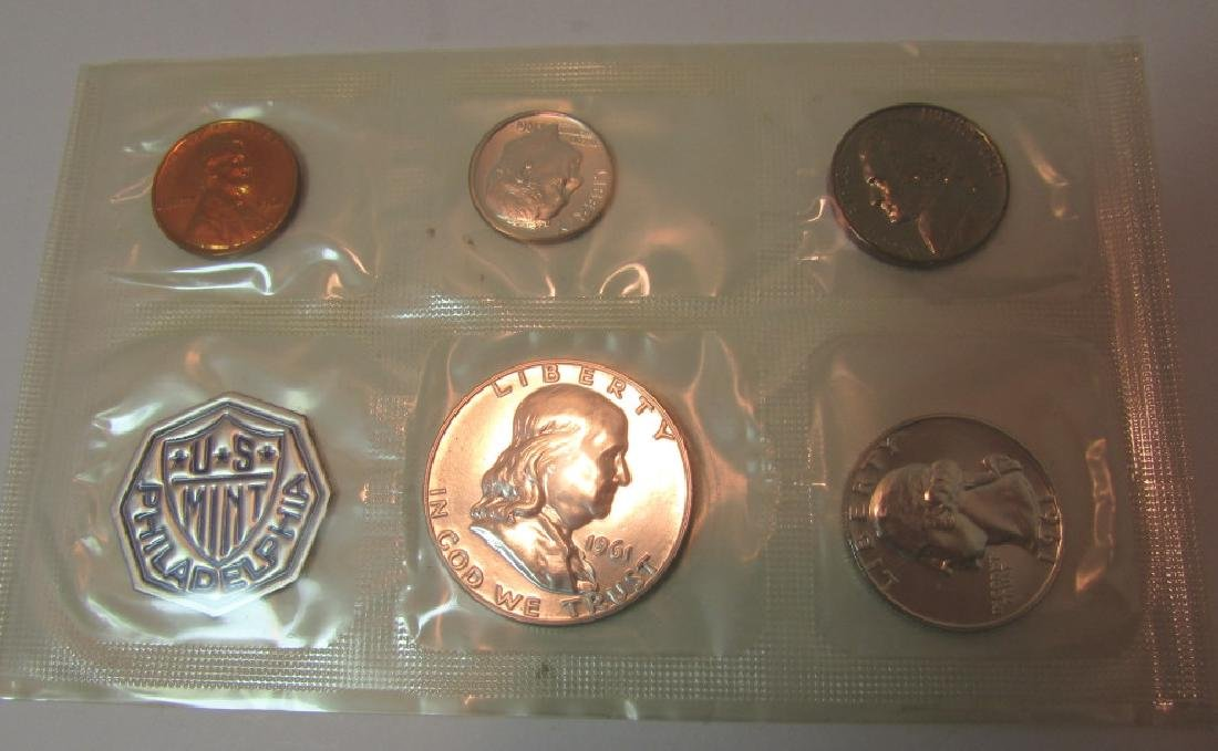 10 SILVER 1961 US PROOF COIN SETS - 4