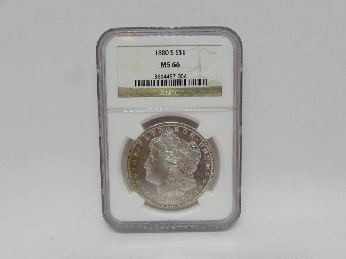 1880 S $1 MORGAN SILVER DOLLAR MS66 NGC GRADED