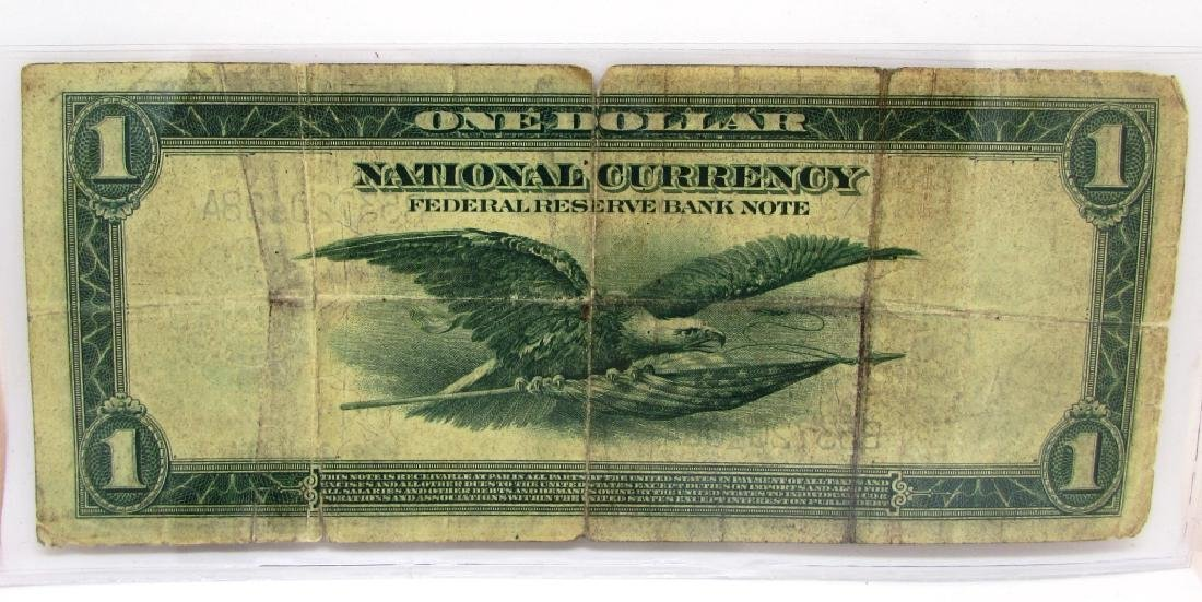 FEDERAL RESERVE BANK $1 NATL 1918 NOTE CURRENCY NY - 2