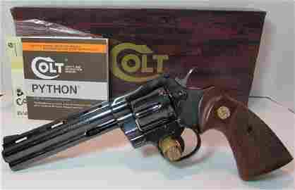 "COLT PYTHON 98% BLUE 357 MAG BOX PAPERS PISTOL 6"""