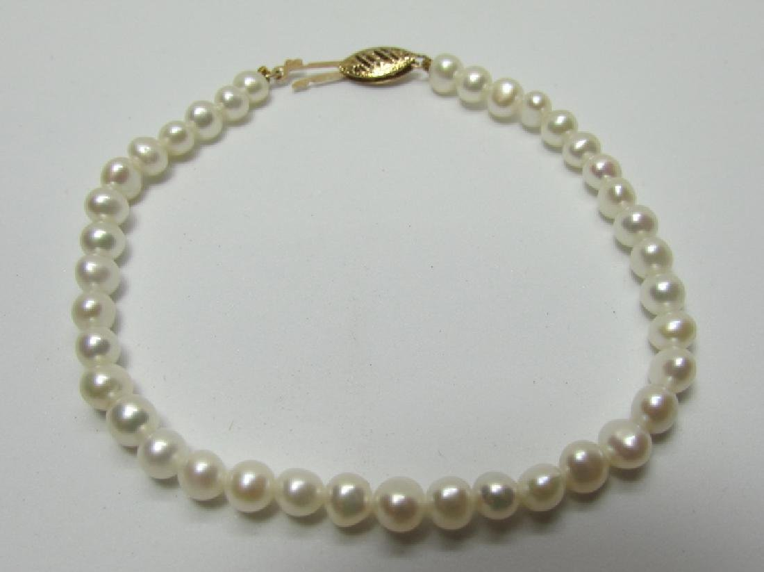 4-5MM PEARL BRACELET 14K GOLD 7 1/4""