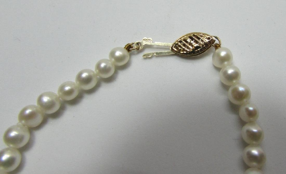 "4-5MM PEARL BRACELET 14K GOLD 7 1/4"" - 2"