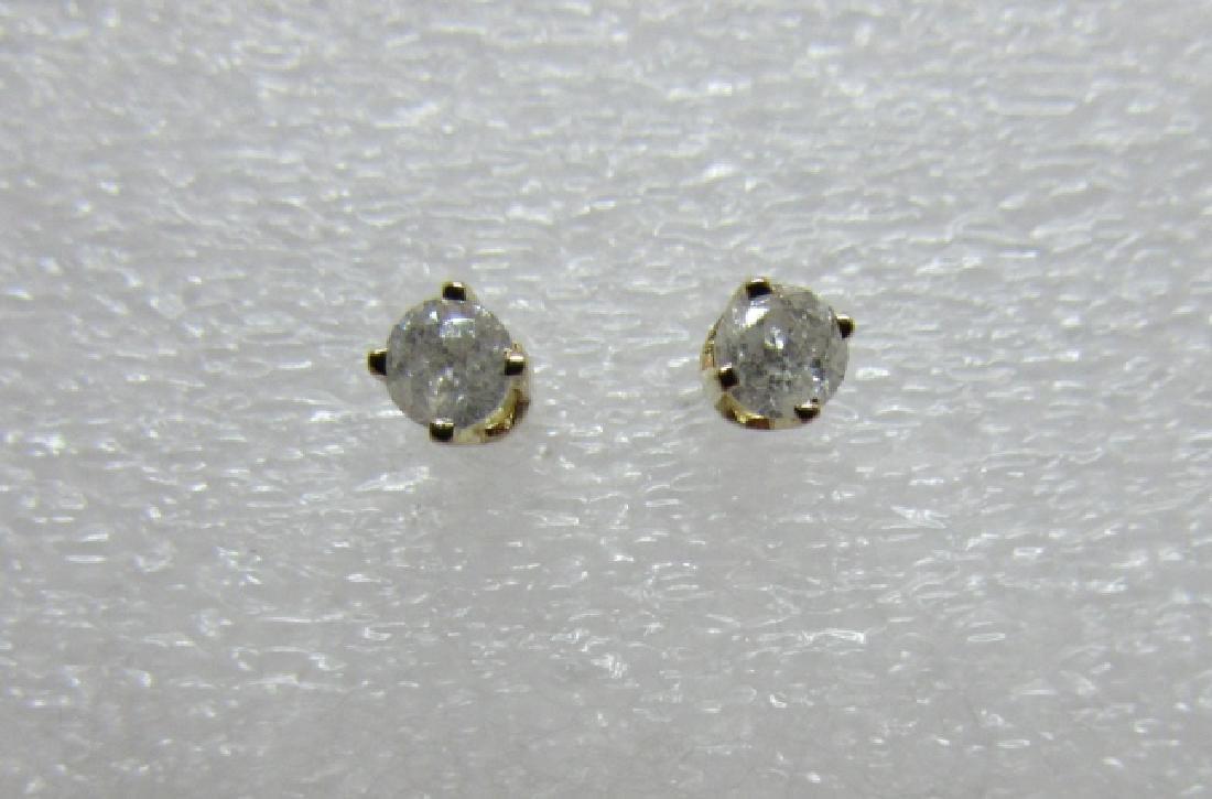 .25CT DIAMOND STUD EARRINGS 14K GOLD SCREWBACK