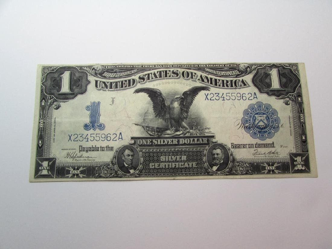 1899 US SILVER CERTIFICATE $1 NOTE BLACK EAGLE