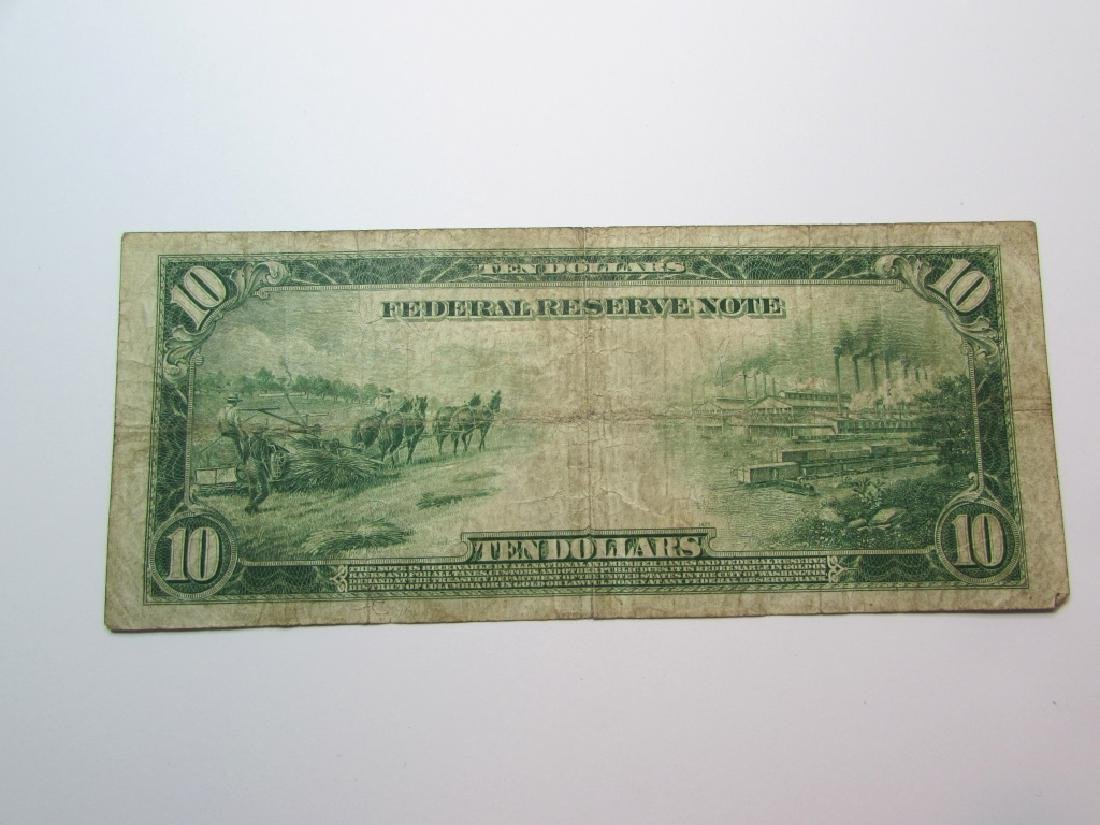 1914 US LARGE $10 FEDERAL RESERVE NOTE - 2