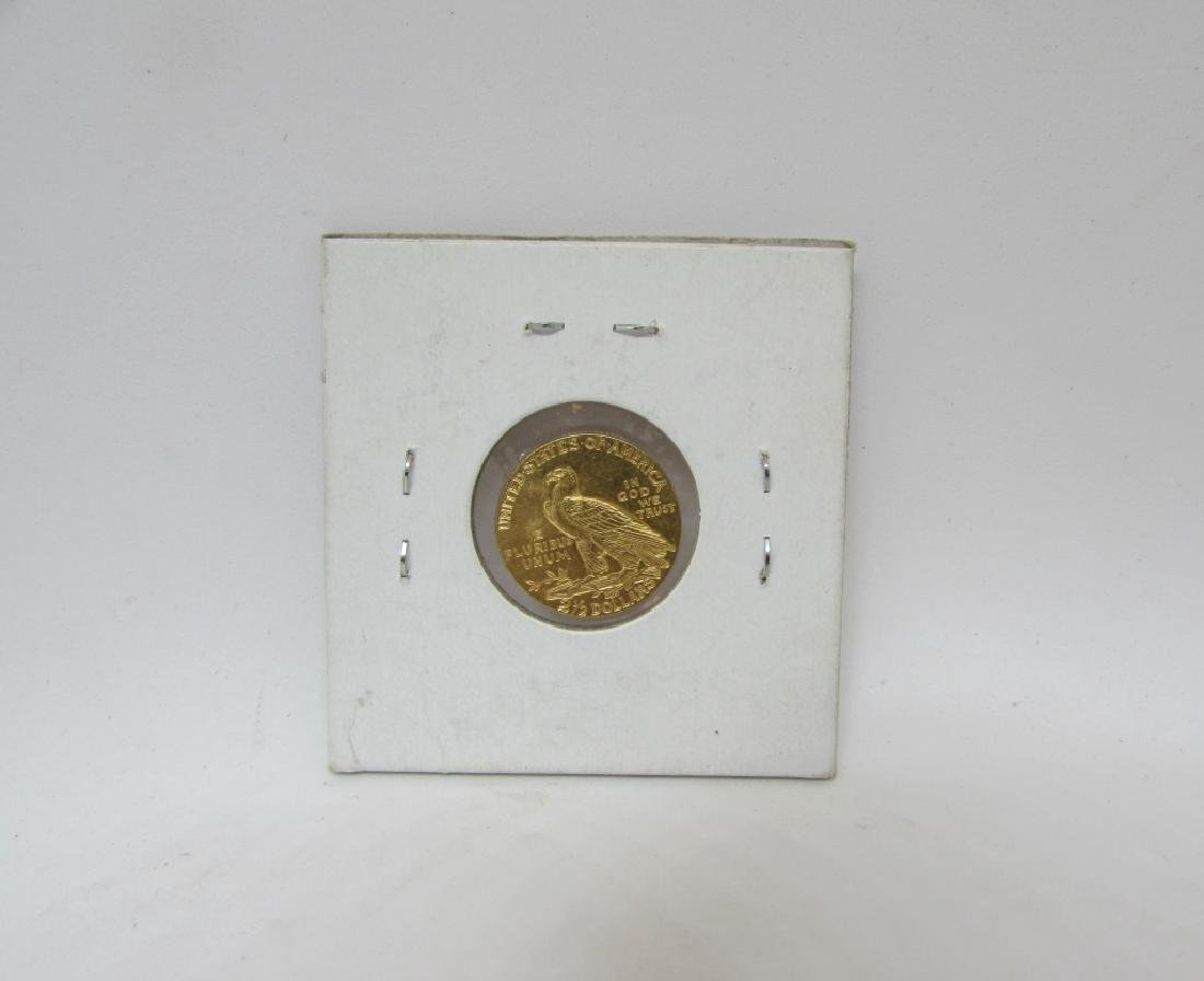 1929 UNC $2.5 US GOLD COIN INDIAN QUARTER EAGLE - 2
