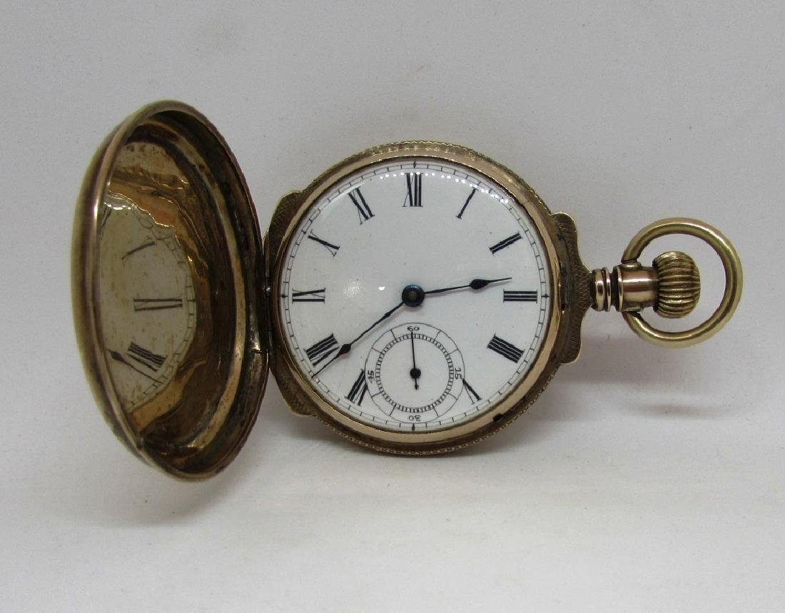 BOX CASE HUNTER POCKET WATCH SOLID GOLD
