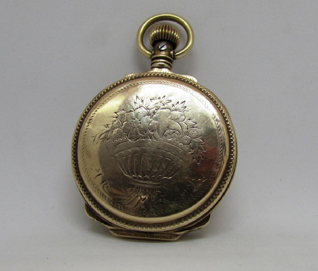 BOX CASE HUNTER POCKET WATCH SOLID GOLD - 3