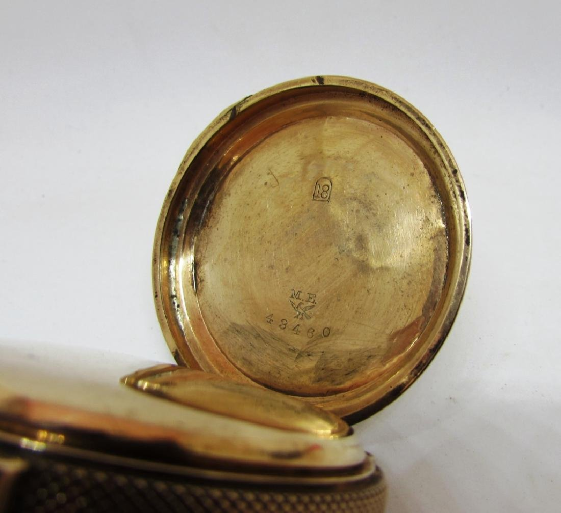 BOX CASE HUNTER POCKET WATCH SOLID GOLD - 6