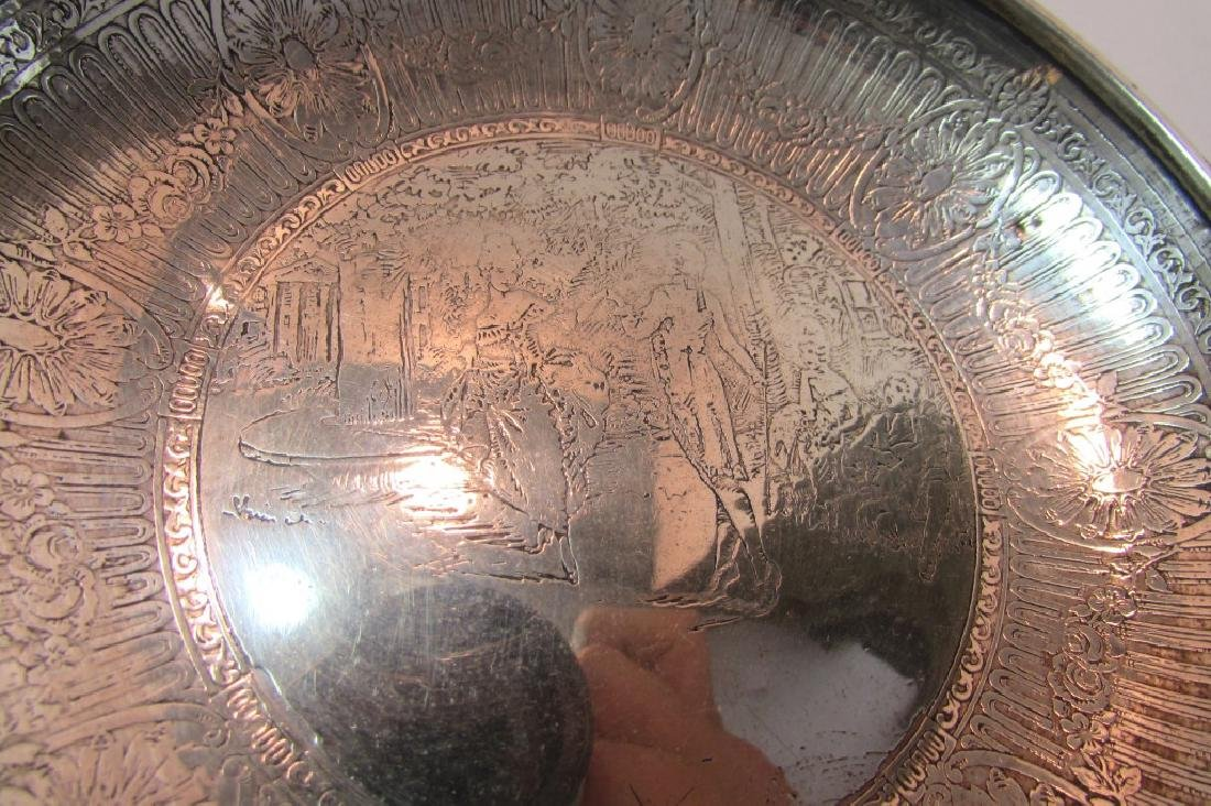 STERLING SILVER PLATE SHALLOW BOWL TRAY DISH 7604 - 4