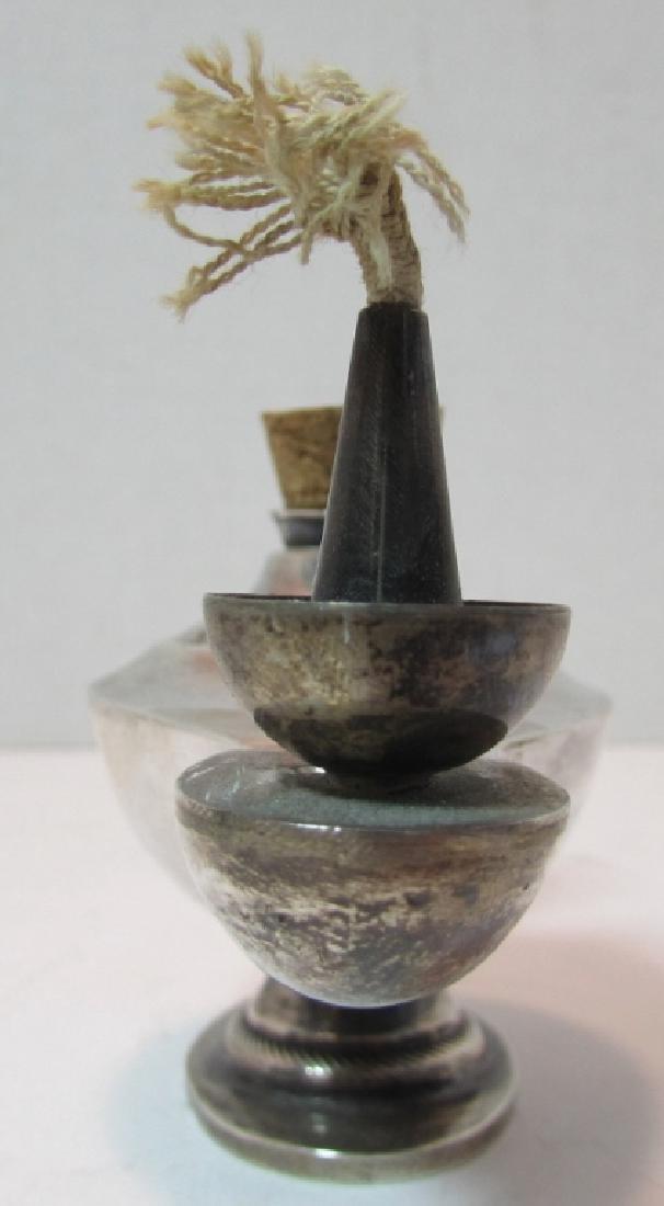 STERLING SILVER OIL ALLADIN LAMP CIGAR LIGHTER - 2