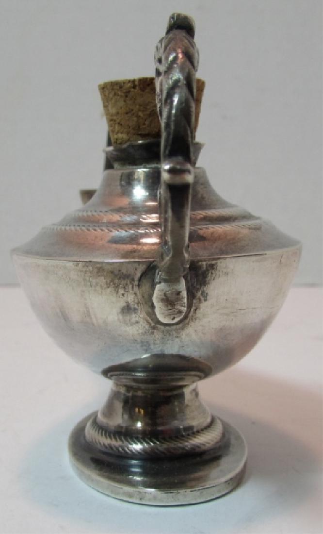 STERLING SILVER OIL ALLADIN LAMP CIGAR LIGHTER - 4
