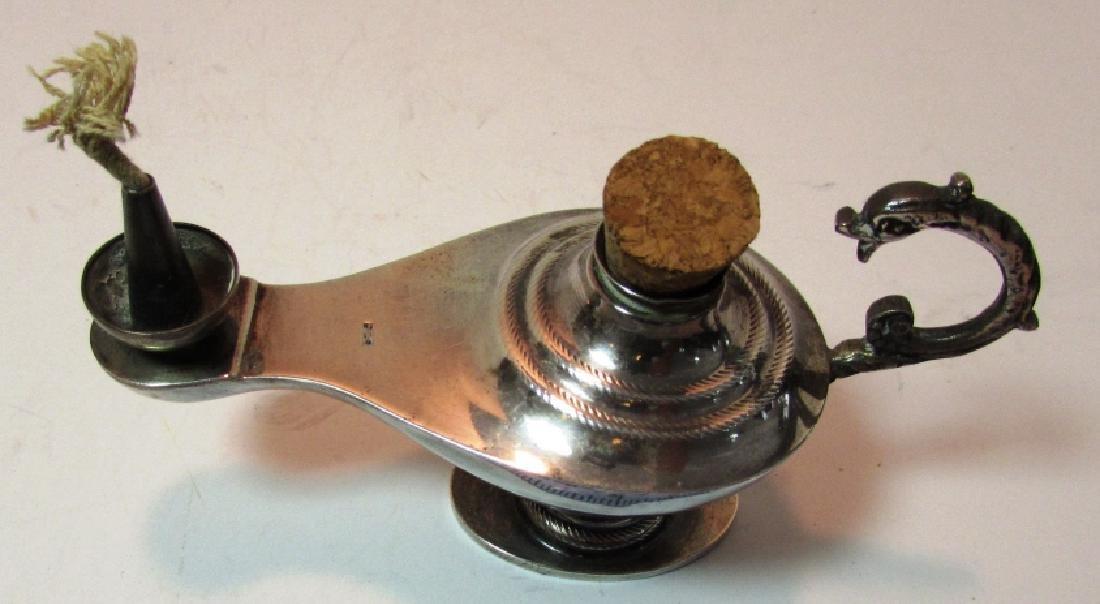 STERLING SILVER OIL ALLADIN LAMP CIGAR LIGHTER - 8