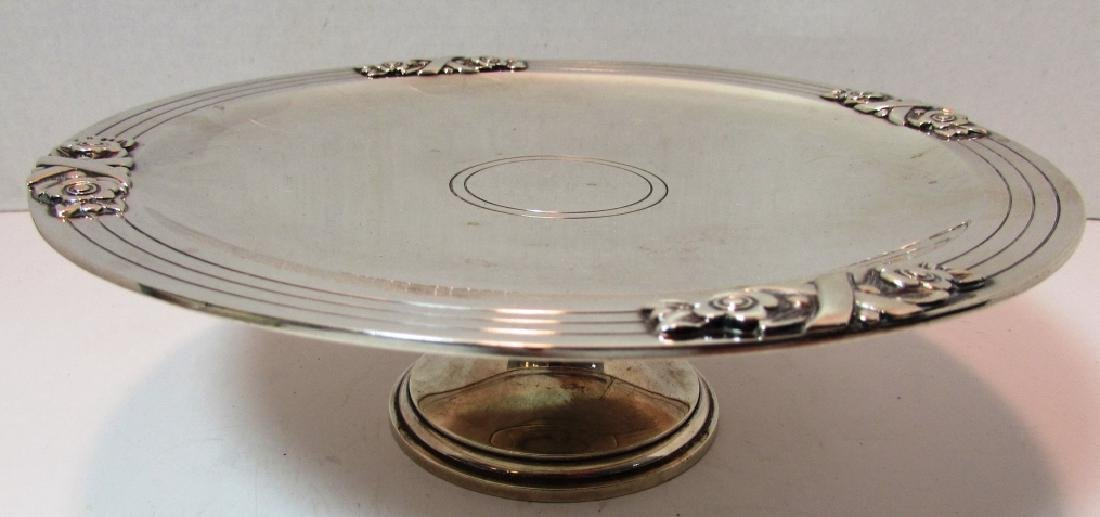 TIFFANY & CO STERLING SILVER COMPOTE TAZZA DISH