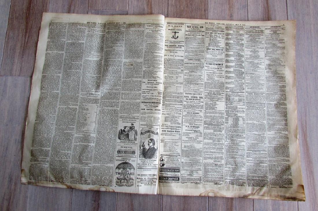 CIVIL WAR ERA THE WORLD 1864 NEWSPAPER - 2