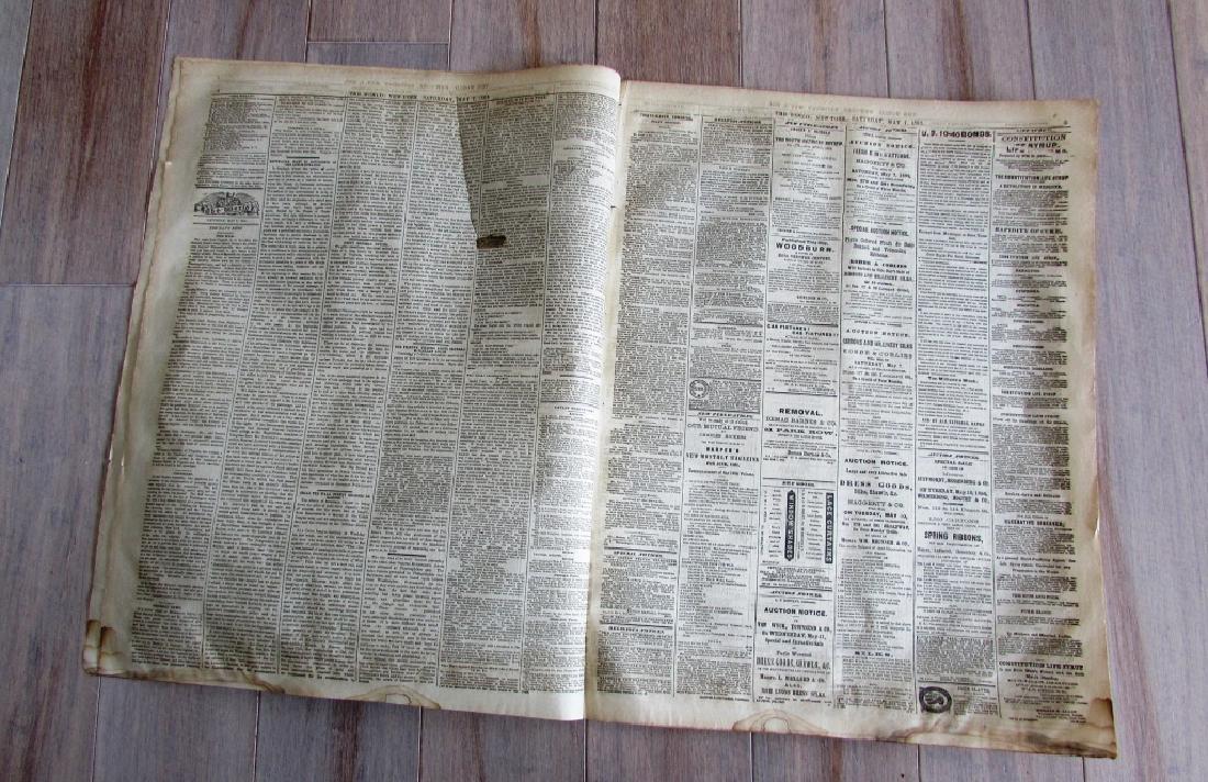 CIVIL WAR ERA THE WORLD 1864 NEWSPAPER - 3