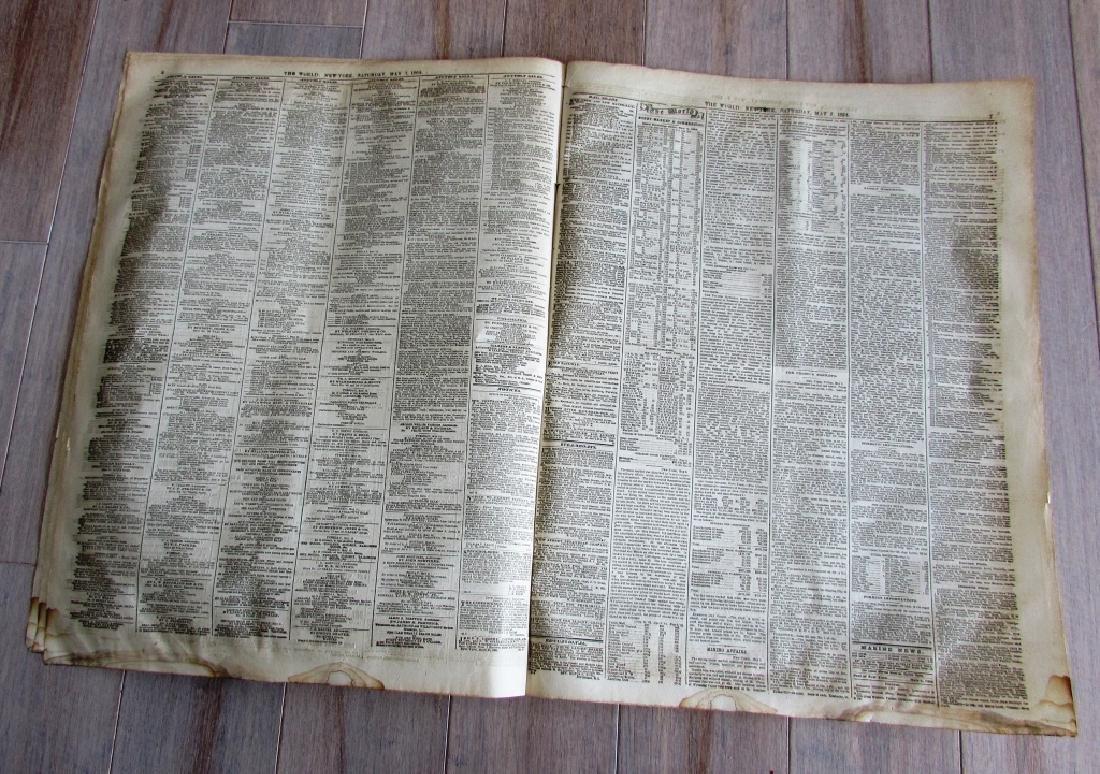 CIVIL WAR ERA THE WORLD 1864 NEWSPAPER - 4