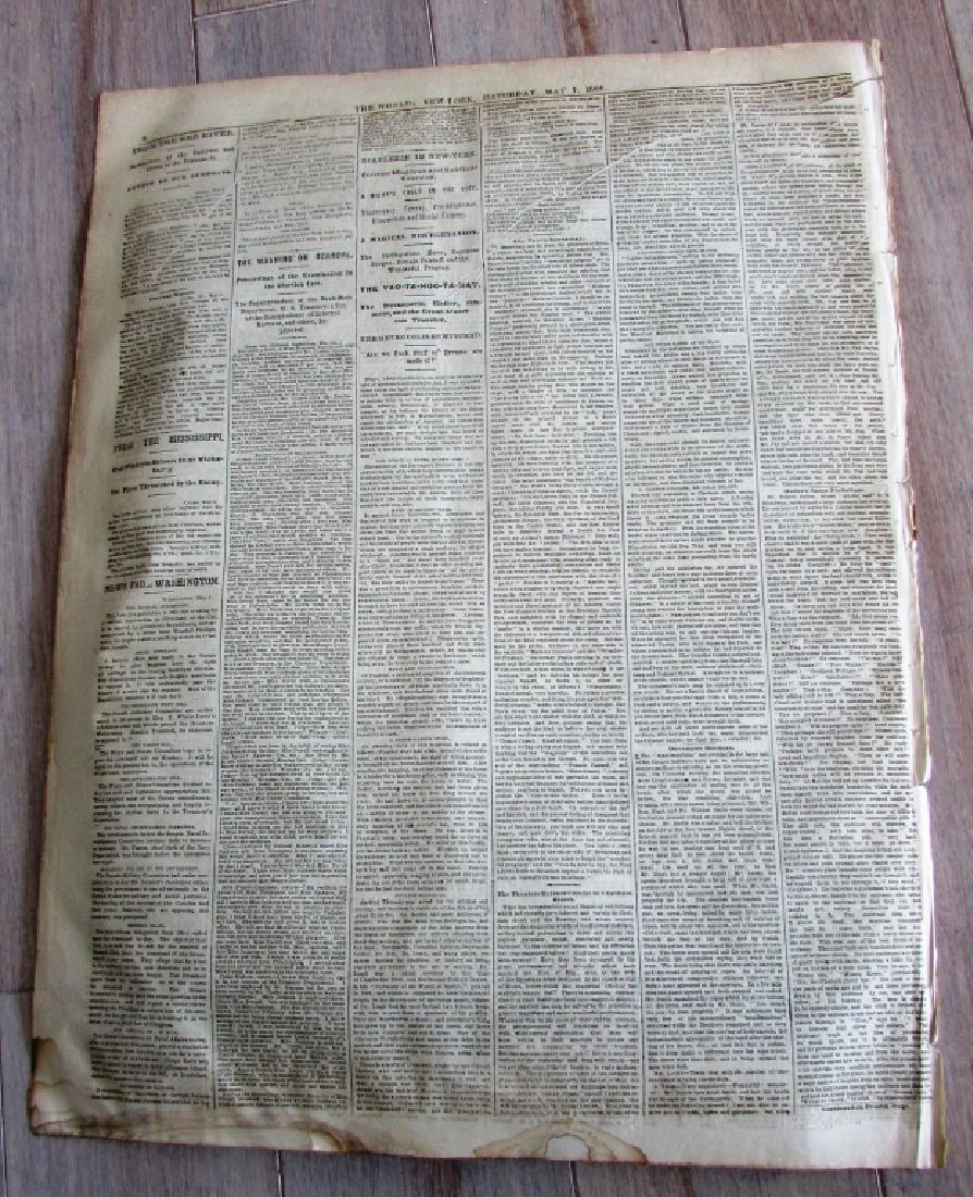 CIVIL WAR ERA THE WORLD 1864 NEWSPAPER - 5