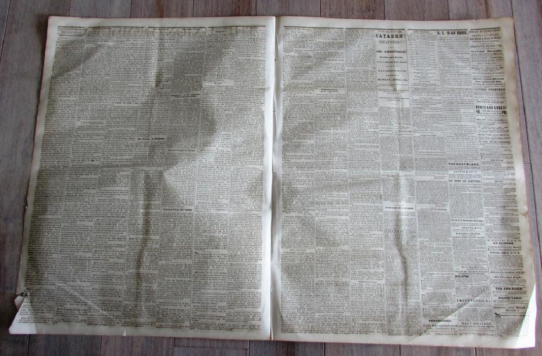 CIVIL WAR ERA UNION DEMOCRAT 1864 NEWSPAPER NH - 2