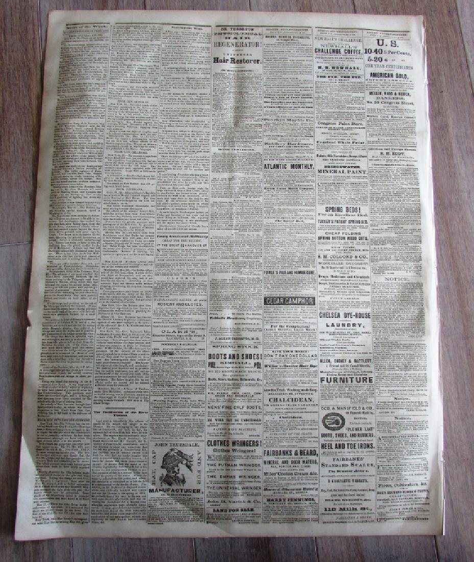 CIVIL WAR ERA UNION DEMOCRAT 1864 NEWSPAPER NH - 3