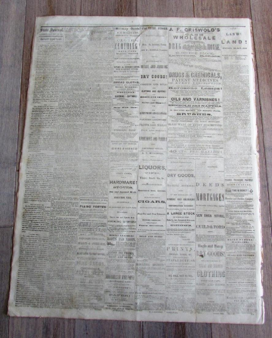 CIVIL WAR NEWSPAPER 1862 THE KANSAS STATE JOURNAL - 3