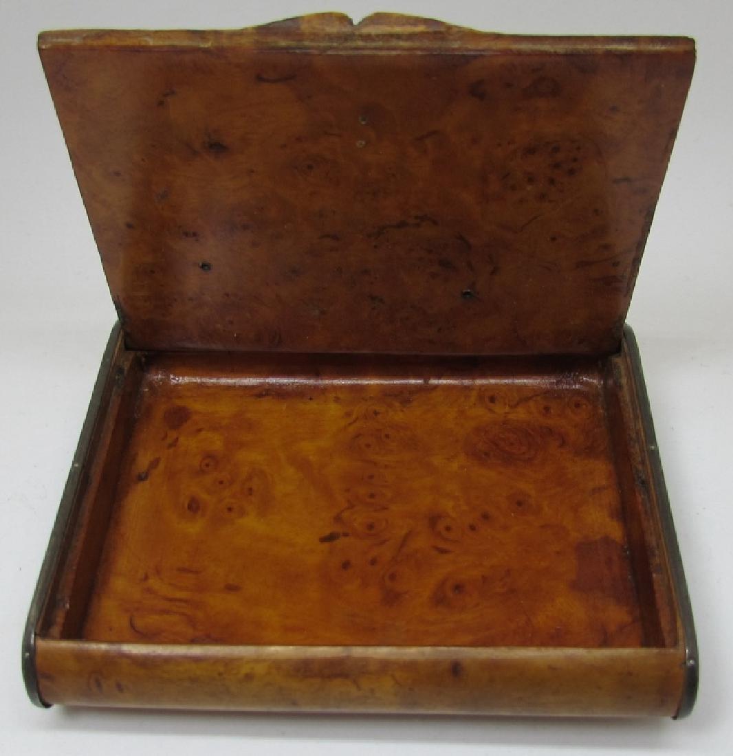 TIFFANY STERLING WOOD CIGARETTE CASE 1939 GOLF - 2