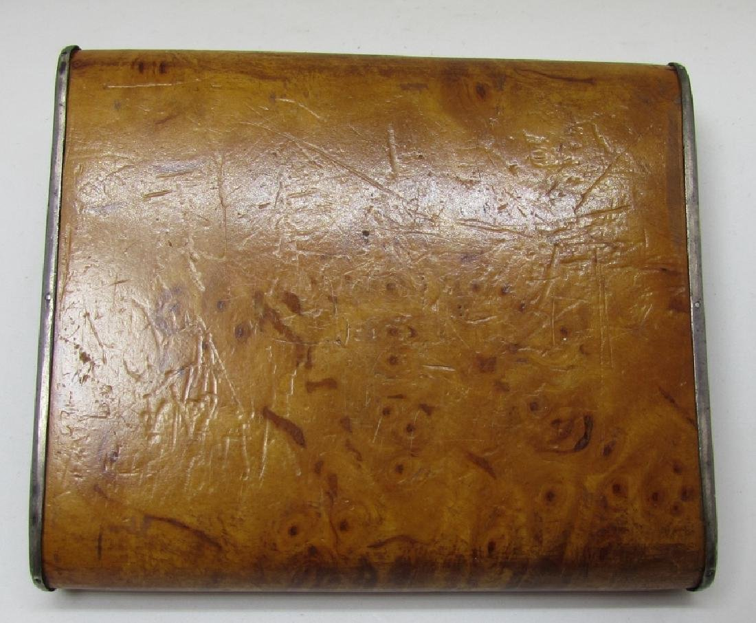 TIFFANY STERLING WOOD CIGARETTE CASE 1939 GOLF - 3