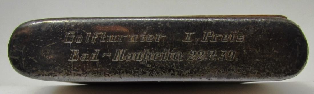 TIFFANY STERLING WOOD CIGARETTE CASE 1939 GOLF - 4