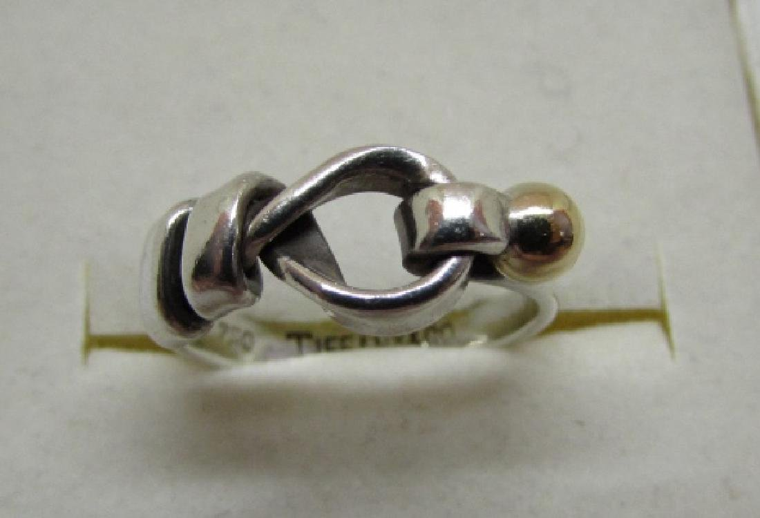 AUTH TIFFANY & CO RING 18K GOLD STERLING SILVER