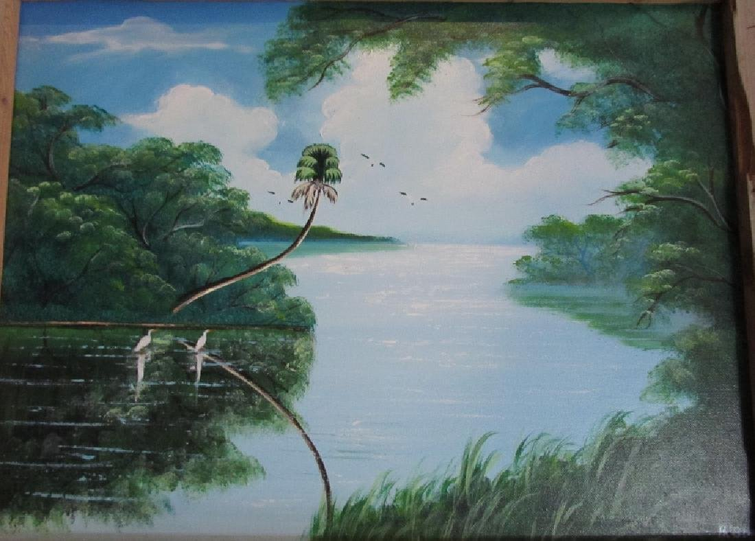 AL BLACK ACRYLIC ON CANVAS FLORIDA HIGHWAYMEN ART