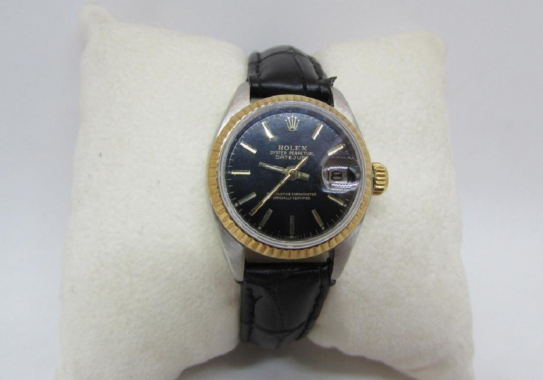 LADIES ROLEX 18K & SS DATEJUST WRISTWATCH - 2