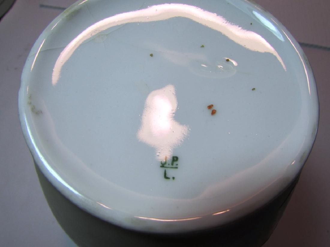 LIMOGES FLORAL PORCELAIN VASE JAR VESSEL ORCHID - 7