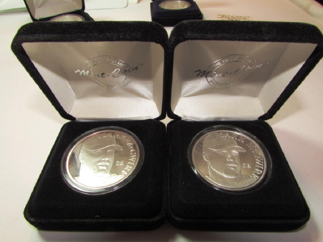2 MARK MCGWIRE FINE SILVER ROUNDS w COA MINT PROOF - 2