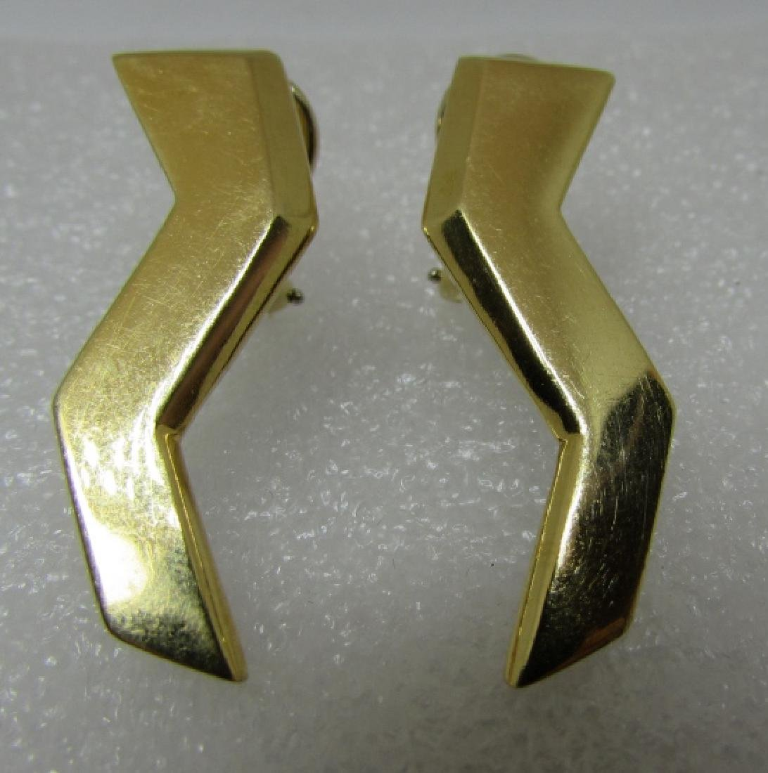TIFFANY & CO 18K GOLD EARRINGS PALOMA PICASSO 13GR