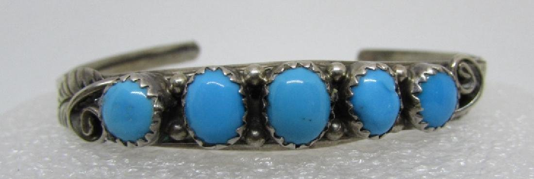 LIVINGSTON TURQUOISE STERLING SILVER BRACELET CUFF