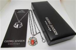 GEORG JENSEN CORAL NECKLACE STERLING SILVER