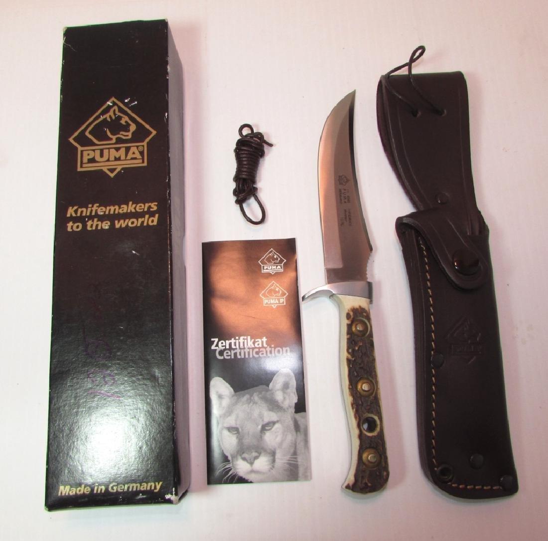 PUMA STAG KNIFE SKINNER  BOX LEATHER SHEATH 116393