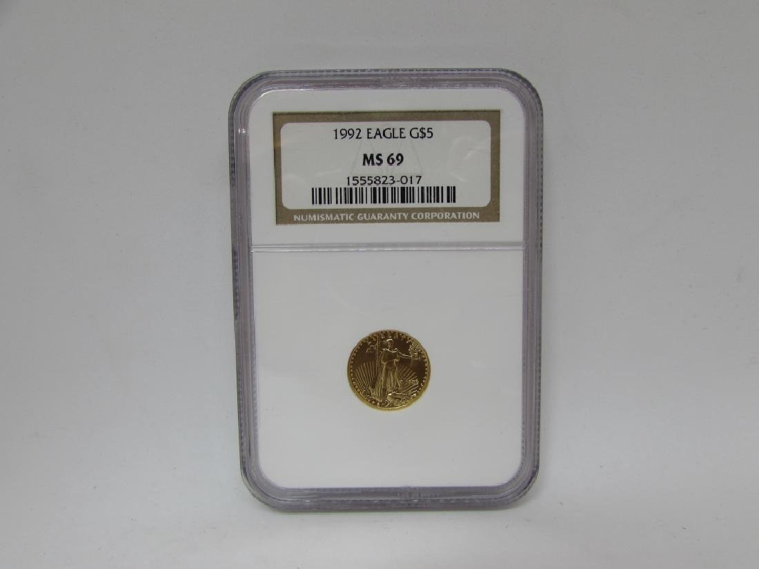 1992 US GOLD EAGLE $5 COIN NGC MS69
