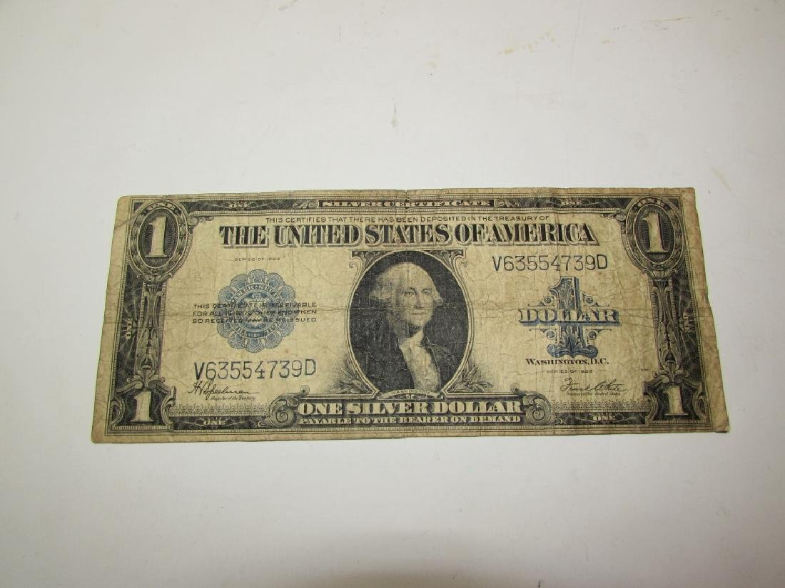 US 1923 SILVER CERTIFICATE DOLLAR LARGE NOTE $1