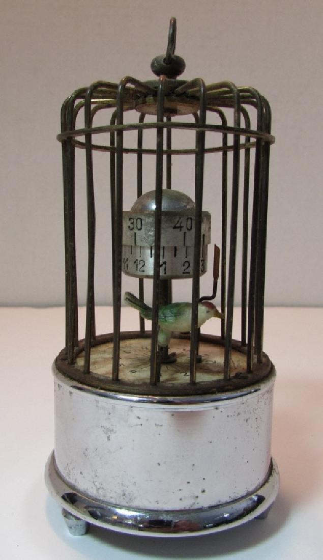 KAISER GERMANY BIRD CAGE ALARM CLOCK AUTOMATON - 2