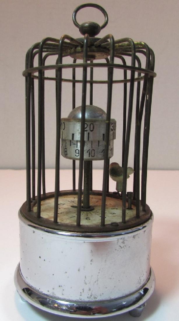 KAISER GERMANY BIRD CAGE ALARM CLOCK AUTOMATON - 3