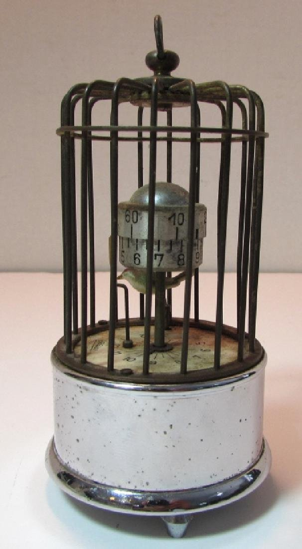 KAISER GERMANY BIRD CAGE ALARM CLOCK AUTOMATON - 4