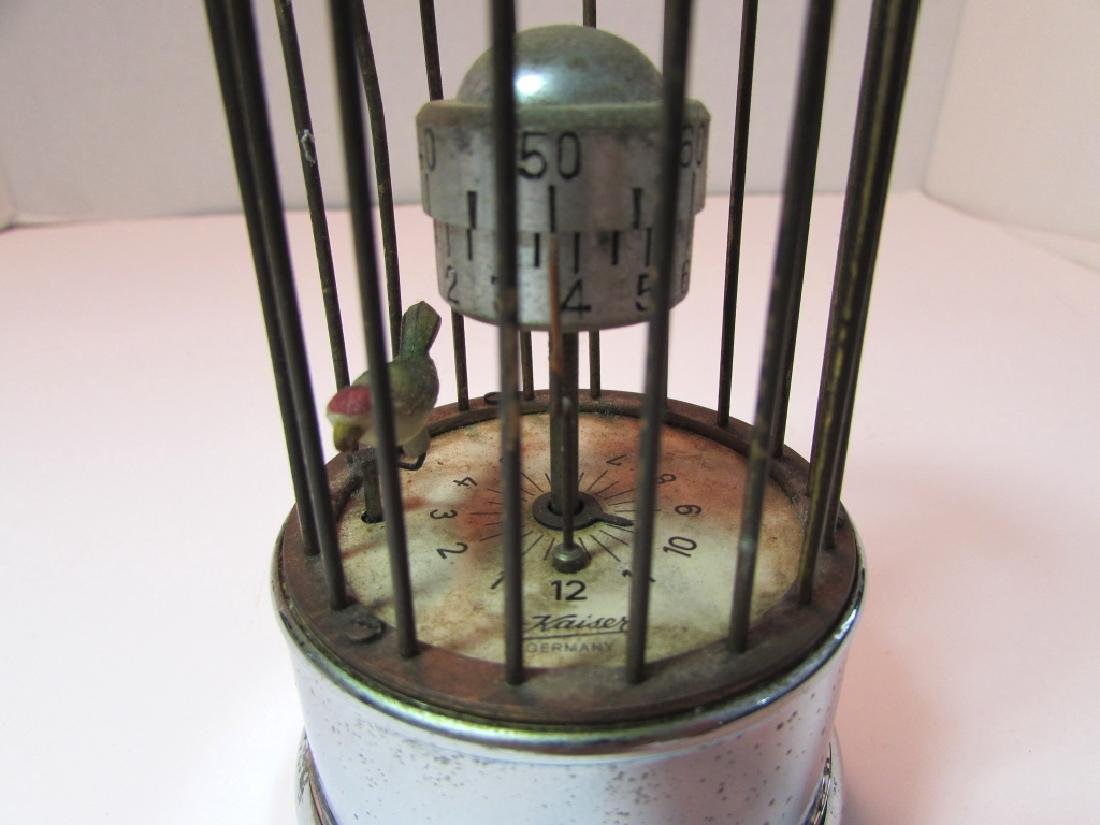 KAISER GERMANY BIRD CAGE ALARM CLOCK AUTOMATON - 5