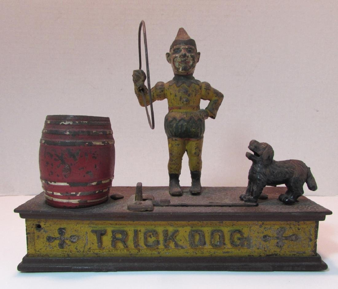 ANTIQUE MECHANICAL BANK TRICK DOG