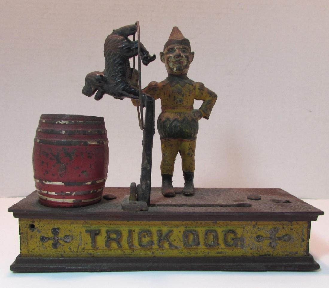 ANTIQUE MECHANICAL BANK TRICK DOG - 2