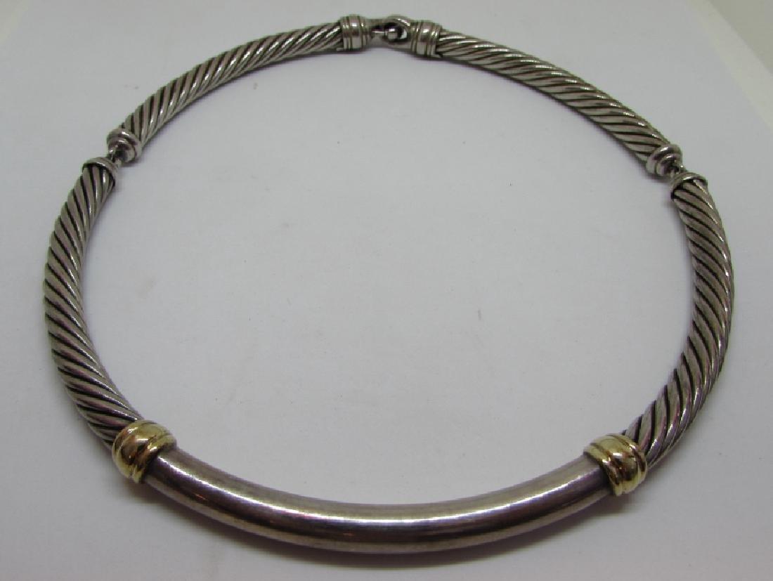 DAVID YURMAN METRO CABLE NECKLACE 14K & STERLING