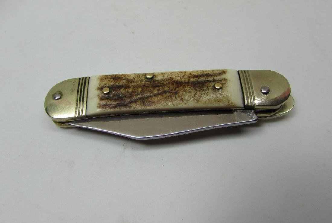 HUBERTUS SOLINGEN STAINLESS STAG SWITCHBLADE KNIFE - 4