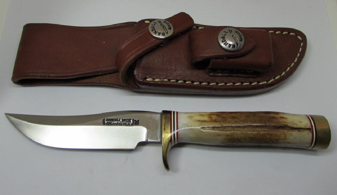 RANDALL MINI KNIFE & SHEATH M3 UNUSED MINT STAG