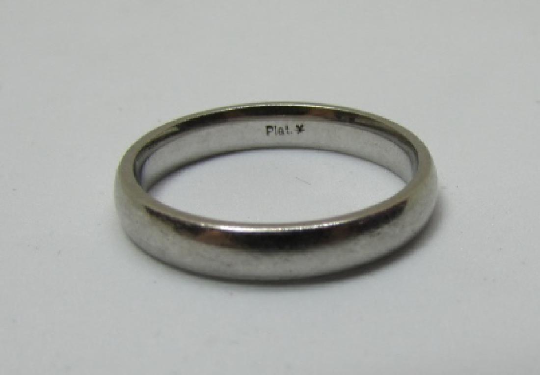 3MM PLATINUM WEDDING BAND RING 4.1 GRAMS - 2
