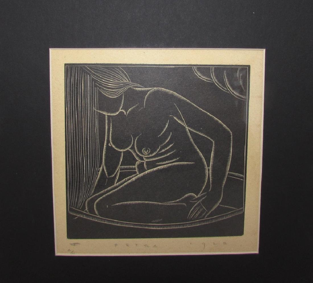 JOHN FARLEIGH NUDE ENGRAVING PETRA 1928 SIGNED
